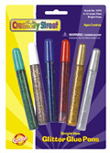 17 Pack CHENILLE KRAFT COMPANY GLITTER GLUE PENS BRIGHT HUES COLOR