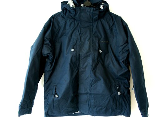 Mens Trespass Waterproof Jacket Ski Jacket Small 35 - 37 chest Navy Blue BACCA