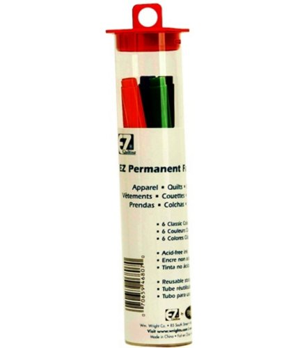 Wrights/EZ Marking Pen Permanent Fabric Markers 6 pc (3 Pack)