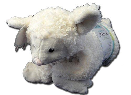 Little Miracles Snuggle Me Sherpa 2 Piece Plush Blanket Pillow Set, Lamb