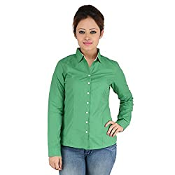 Elle Et Lui Women's Shirt (LPC0815CYLINDER1303S_GREEN) (Small) (Medium)