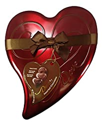 Dove Valentine Candy Assorted Chocolates, Milk & Dark Chocolate Truffle Hearts, and Creamy Carmels, Heart Tin 6.5oz