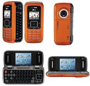 Orange LG VX9900 ENV QWERTY Camera Cell Phone for Verizon Wireless - No Contract required