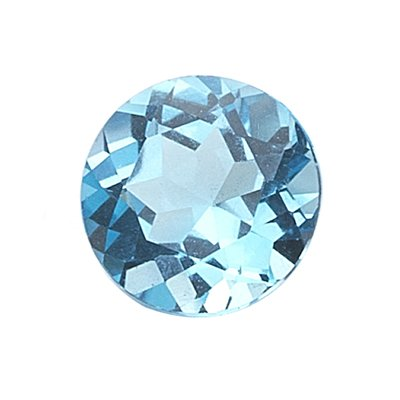 7.50 Cts of AAA 12 mm Round Loose Swiss Blue Topaz ( 1 pc ) Gemstone
