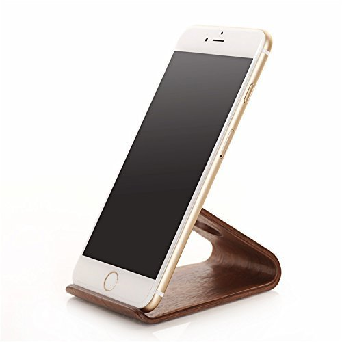 Wood iPhone Stand,VONOTO® Wooden Desk Stand Holder for iPhone 6s/6 Plus/6, Samsung Galaxy S6, Android Cell Phones, Nexus, Lumia, HTC, OnePlus (Black Walnut) (Cell Phone Desk Stand compare prices)