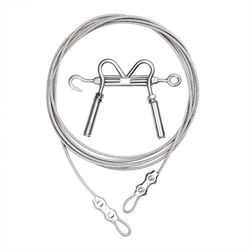 Corde linge r tractable en nylon 0611165436193 cuisine - Corde a linge exterieur retractable ...