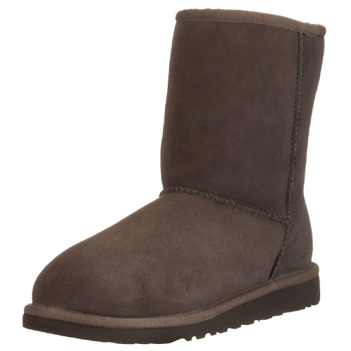 UGG Australia Girls' Classic Short Sheepskin Fashion Boot Chocolate 5 M US