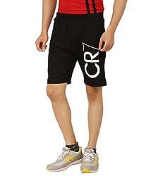Hotfits black graphic cotton shorts