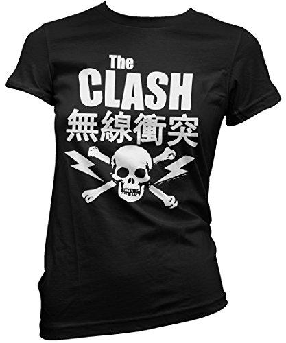 T-shirt Donna The Clash - Japanese Tee Maglietta 100% cotone LaMAGLIERIA,M, nero