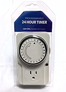 Hydroponics Timer Control 24-Hr for Lights and Fans