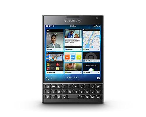 【日本正規代理店品】BlackBerry Passport Black SIMフリースマートフォン ブラックベリー 32GB Touch-Enabled QWERTY キーボード PRD-59182-065