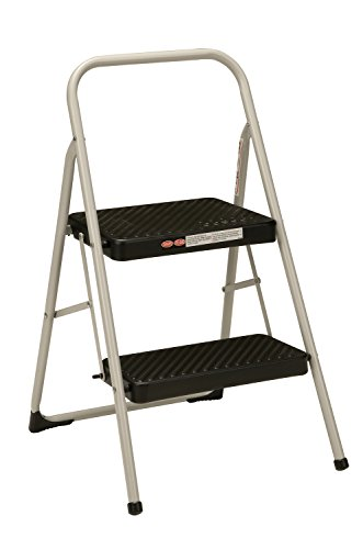 Cosco 11-135Clgg1 Folding Step Stool, 2-Step, Cool Gray back-981306