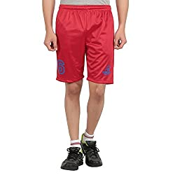DKCLUES-RED-POLYESTER SPORTS PRINTED SHORTS