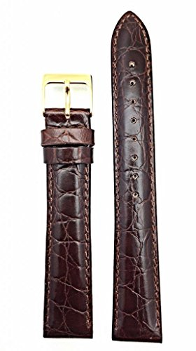 Newlife Brown Long, Lightly Padded, Round Croco Grain 20Mm