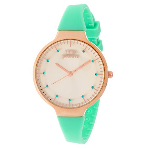 ladies-think-positiver-model-se-w69-rose-medium-of-silicone-strap-color-acquamarine