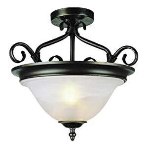 Trans Globe Lighting 6390 PW 17-Inch New Victorian Semi Flush ...