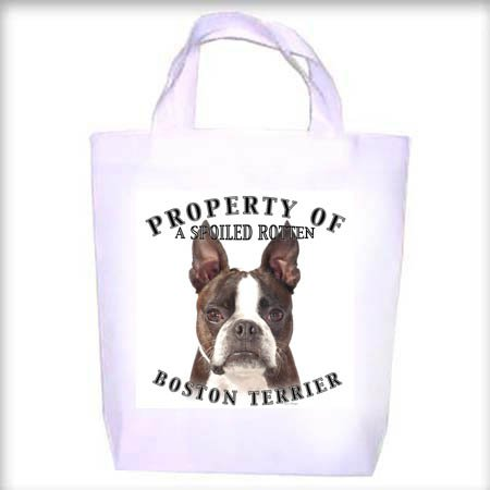Boston Terrier BRINDLE Property Shopping - Dog Toy - Tote Bag
