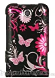 Dream Wireless CAZTESCOREMPKBF Slim and Stylish Design Case for the ZTE Score M - Retail Packaging - Pink Butterfly