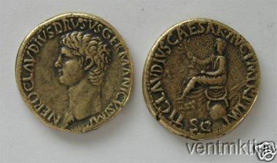 (DD Z 23) Brass Sestertius of Nero Claudius COPY