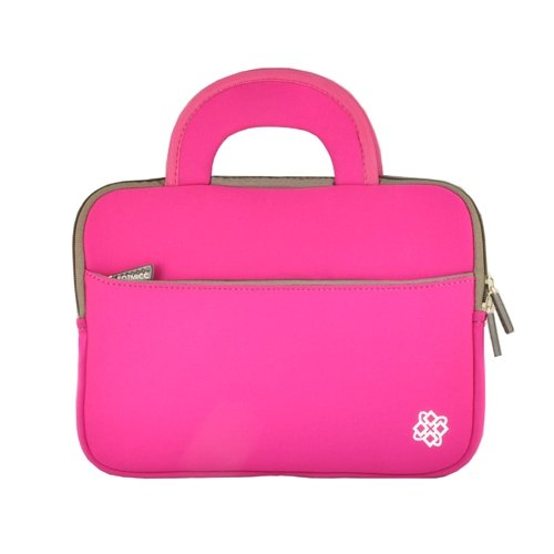 KOZMICC Neoprene(Pink) Sleeve Case Bag With Handle