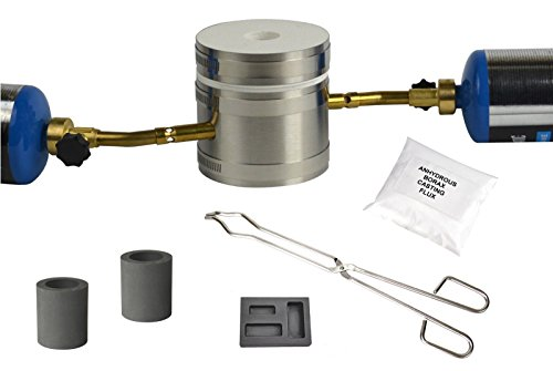 Deluxe Mini Kwik Kiln Propane Mapp Gas Furnace Kit Melts Gold Silver Copper In 10 Minutes With Combo Mold (Copper Furnace compare prices)