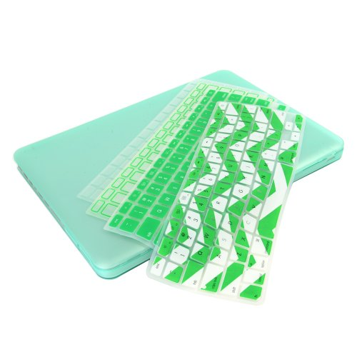>>  UHURU Great Deal Bundle for Apple Macbook / Macbook Pro with or without Retina Display - Ultra Slim Crystal See Through Hard Case + 4 Different Styles Silicone TPU Chevron Keyboard Covers (Macbook Pro 13