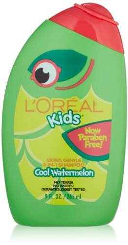 L''Oreal Kids Extra Gentle 2-in-1 Shampoo With a Burst of Watermelon, 9.0 Fluid Ounce
