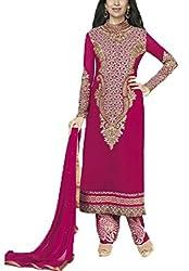 Vivacity Women's Faux Georgette Unstitched Dress Material (Fiona-5181_Violet_Free Size)