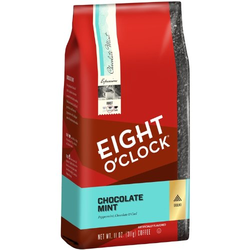 Eight O Clock Chocolate Mint Ground Coffee, 11 Ounce