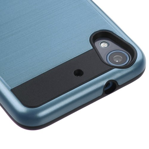 Click to buy HTC Desire 626 / 626s / 625 Case, Kaleidio [Brushed Hybrid] Impact Armor Protective Rugged Cover [Includes a Overbrawn Prying Tool] [Blue/Black] - From only $45.66