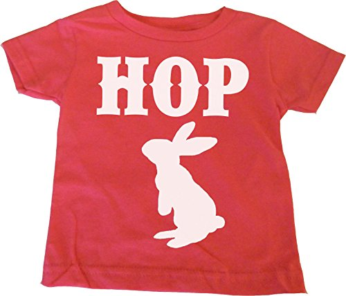 "Custom Kingdom Little Girls ""Hop"" Easter Bunny Rabbit T-shirt"