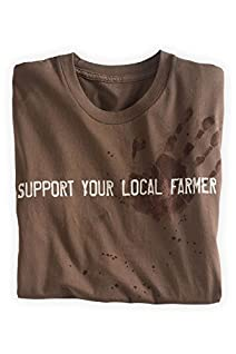 Green 3 Apparel Men's Made in the USA Organic Cotton Support Your Local Farmer