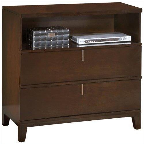 Modus Furniture International Legend Wood 2-Drawer Media Chest, Chocolate Brown front-380458