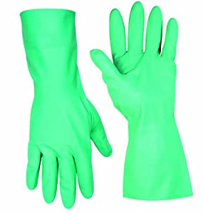 Custom Leathercraft P2305M Chemical Resistant Nitrile Gloves, Medium, 2-Pack