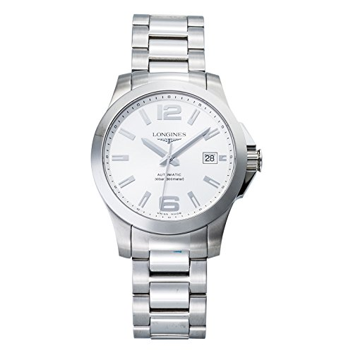 Longines Conquest L36764766 39mm Automatic Silver Steel Bracelet & Case Synthetic Sapphire Men's Watch