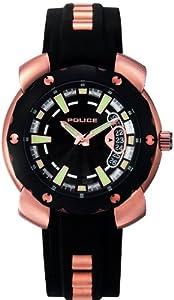 POLICE Timepieces - P11624JSR-02 - Montre Homme - Quartz - Analogique - Bracelet Caoutchouc Noir