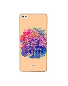 Micromax Silver 5 (Q450) nkt-04 (45) Mobile Case by Mott2 - Rangoli Colorful Om (Limited Time Offers,Please Check the Details Below)