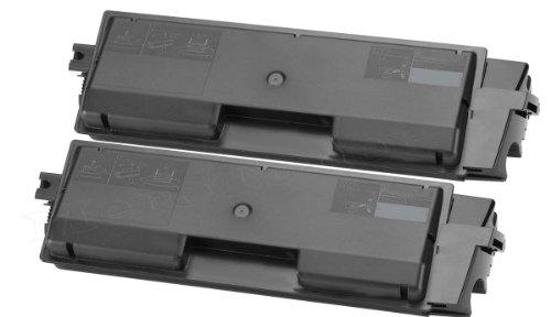 2er Pack Toner patrone für Kyocera Mita TK-580 XXL Toner für Kyocera FS-C5150DN FS-C5150 DN ersetzt TK580 (Black/Schwarz)