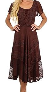 Sakkas 1322 Marigold Fairy Dress - Chocolate - One Size Plus