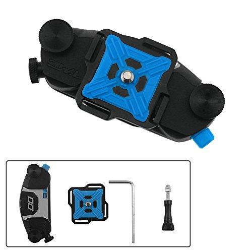 COWEEN カメラホルスター クイックリリース アルミ合金製ウエストバンド カメラ用クイックリリース 携帯便利 DSLR一眼レフ用 カメラホルスターライト バックルボタンマウント 強力キャプチャーカメラクリップ