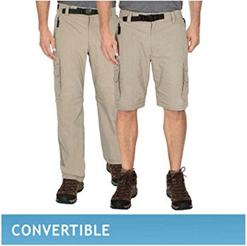 BC Clothing Men's Convertible Cargo Pant with Stretch, Relaxed Fit (M x 32, Khaki) (Bc Clothing compare prices)