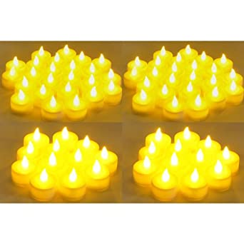 Instapark reg LCL C144 Battery powered Flameless Color changing LED Tealight Candles