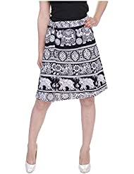 Soundarya Women's Cotton Skirt (Black) - B01DIWURTK