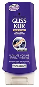 Gliss Kur Ultimate Volume Hair Conditioner with Sea Collagen 6.76 fl oz