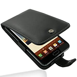 Pdair Black Leather Flip Protective Case Cover for Samsung Galaxy Note GT-N7000 + belt clip
