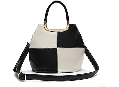 Fashion Pu Leather Clutch Cross-Body Shoulder Wristlet Handbag 0315252 (Black)