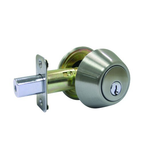 Double Cylinder Satin Nickel Finish Deadbolt Lock w/ Keys - Fits All Doors (Gatehouse Electronic Deadbolt compare prices)
