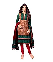Miraan Women's Cotton Unstitched Salwar Suit Dress Material (Sg429 _Green _Free Size)