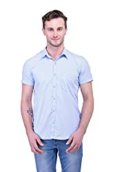 Trendster Off-White Solids Half Sleeve Casual Men's Shirt