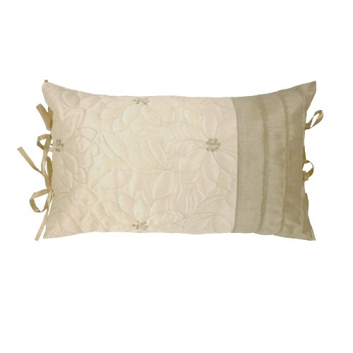 Lois Natural Beige & Cream Catherine Lansfield Embroidered Bedding Cushion Cover